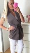 Stylové vesty 3 BARVY - Okrová