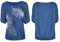 TOP peříčko - Tmavě modré