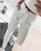 Dámské kalhoty s proužkem