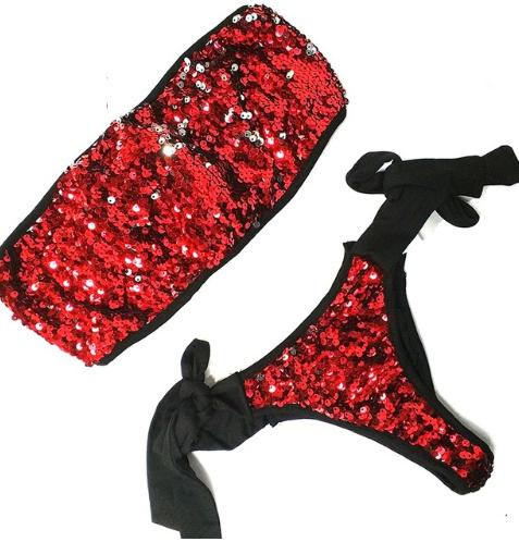 Dámské plavky s flitry barevné