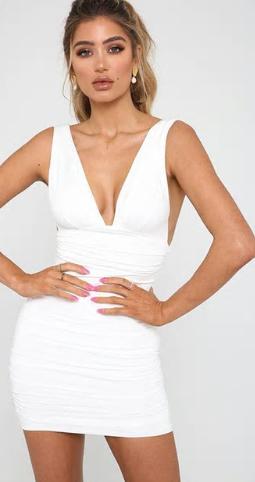 Dámské šaty bez rukávů - Bílé