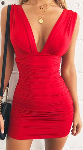 Dámské šaty bez rukávů - Červené
