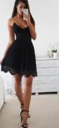 Dámské šaty ROMANTIC - Černé