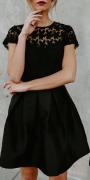 Dámské šaty s holými zády, černé