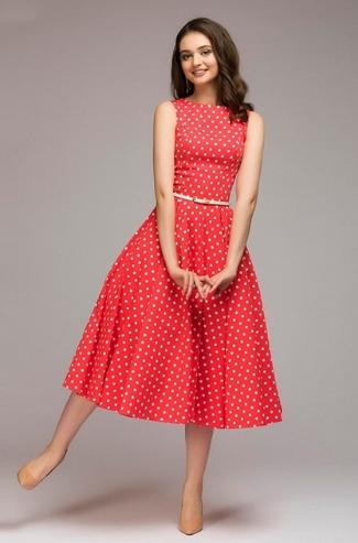 Elegantní šaty puntík