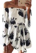 Letní šaty s motivem kytky