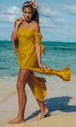Okrové letní šaty