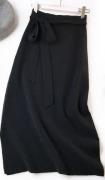 Pletená sukně s vysokým pasem - Šedá