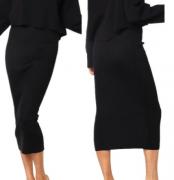 Pletená sukně úzká