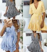 Pruhované šaty s kanýrem