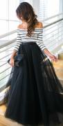 Šaty s romantickou sukní