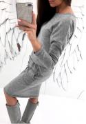Šedé pohodlné šaty