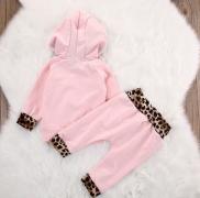 Souprava růžovo-leopardí 2ks