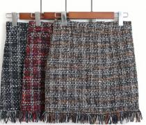 Vlněná sukně s třásněmi 3 barvy