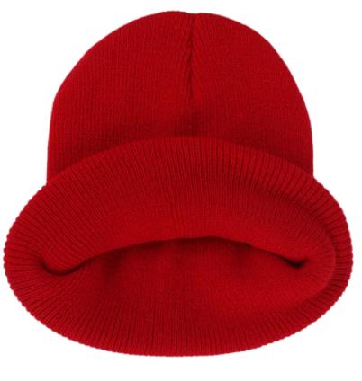 Čepice - mnoho barev - Červená
