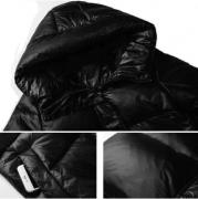 Černá dlouhá bunda s kapucí