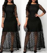Černé šaty PUNTÍK
