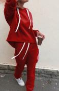 Dámská souprava s tkaničkou - Červená