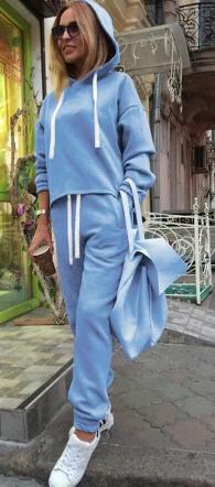 Dámská souprava s tkaničkou - Modrá