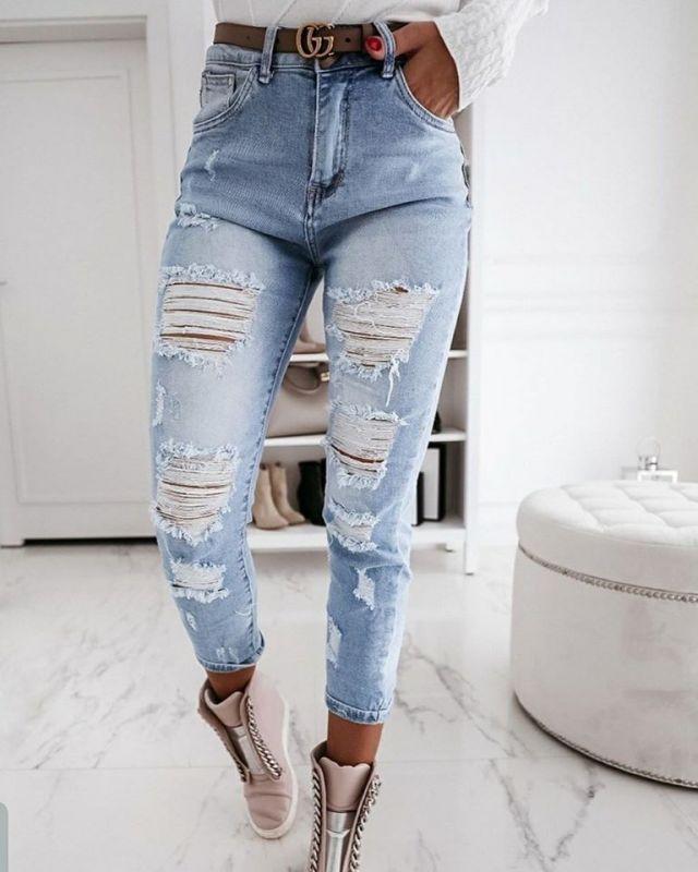 Dámské džíny, vysoký pas