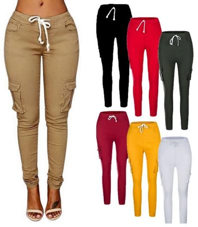 Dámské kalhoty s kapsami