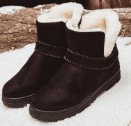 Dámské kotníkové boty s kožešinou