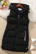 Dlouhé vesty s kapucí