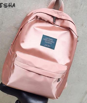 Elegantní batoh lesklý - Růžový