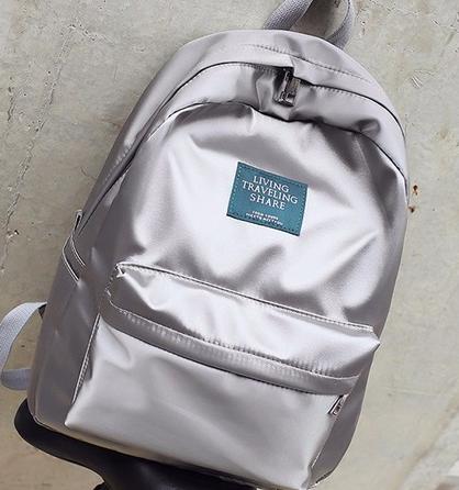 Elegantní batoh lesklý - Šedý