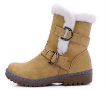 Luxusní zimní boty s přezkami