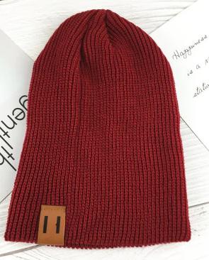 Moderní čepice - Červená