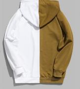 Pánská dvoubarevná mikina s kapucí - Hnědá