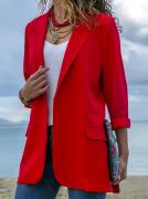 Dámské prodloužené sako - Červené
