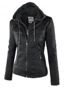 Dámská koženková bunda černá
