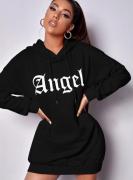 Andělská mikina delší | Černá, Oranžová