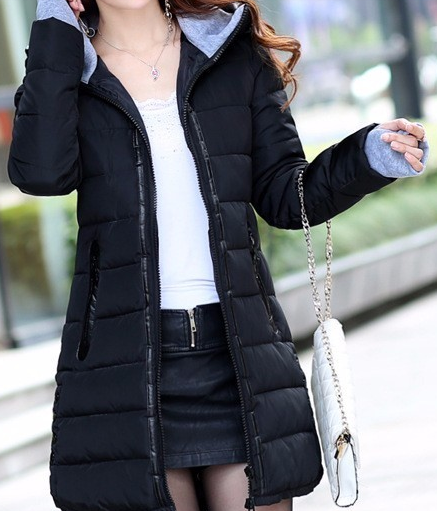 Dámská dlouhá bunda černá