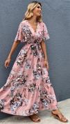 Dámské dlouhé šaty s uvázáním
