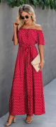 Dlouhé letní šaty ČERVENÉ