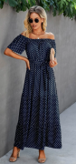 Dlouhé letní šaty  MODRÉ
