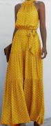 Dlouhé šaty s mašlí