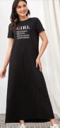 Dlouhé šaty s nápisem