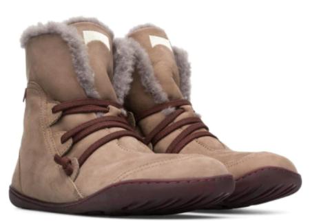 Kotníkové boty s kožešinou