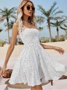 Letní šaty na tenká ramínka BÍLÉ