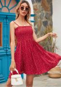 Letní šaty na tenká ramínka ČERVENÉ