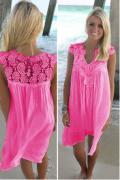 Letní šaty s krajkou 3 BARVY | Bílé, Černé, Růžové