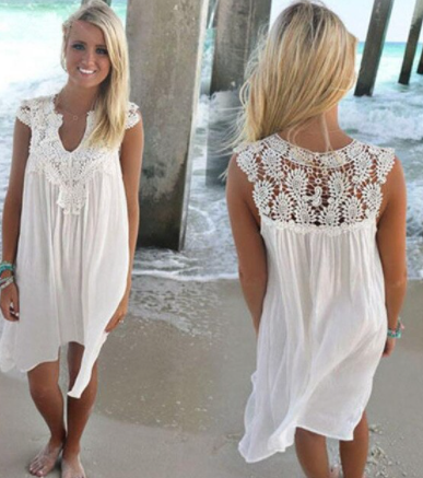Letní šaty s krajkou 3 BARVY