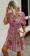 Letní šaty se šněrováním na zádech ČERVENÉ