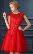 Romantické šaty krátké ČERVENÉ