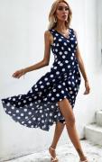 Šaty s puntíkem  MODRÉ
